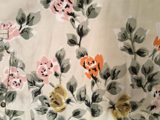 Citizens of Humanity Pattern Cut Off Shorts Floral Image 2