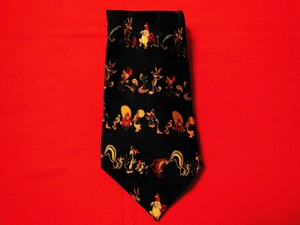 Warner Bros Vintage Looney Tunes Neck Tie 100% Silk