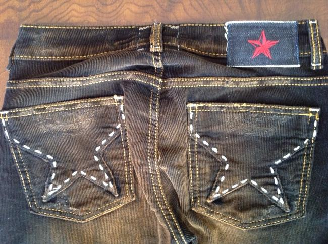 People's Liberation Boot Cut Jeans-Distressed
