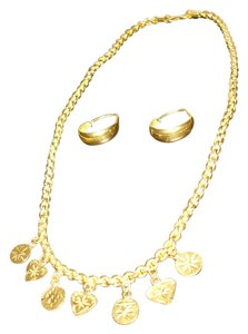 24 karat solid gold necklace and earrings from Dubai 22 grams