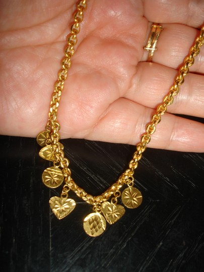 Other 24 karat solid gold necklace and earrings from Dubai 22 grams