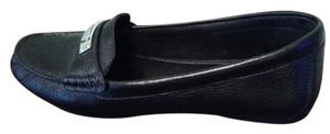 Coach Nubuck Leather Plaque Black Flats