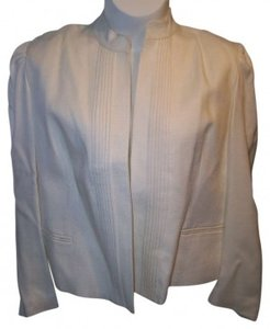 NAN ELLIOT Cream New With Tags Size 40 Long Sleeve IVORY Blazer