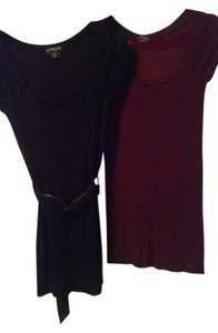 One Step Ahead short dress BLACK.....MAROON on Tradesy