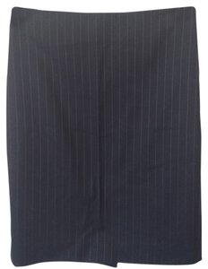 Theory Pencil Wool Skirt dark grey