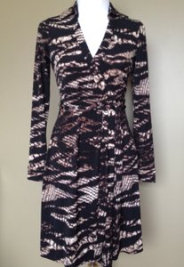 Calvin Klein Snakeskin Wrap Dress