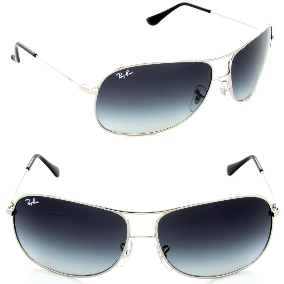 7f5635f343 Ray-Ban Silver Gray Gradient Aviator Rb 3267 003 8g 64mm Sunglasses ...