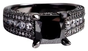 Other New Agate & White Sapphire 2 in 1 Ring Black GF Absolutely Stunning Ring! 6, 7 Avail