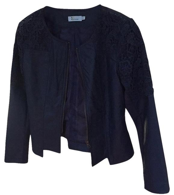Preload https://item5.tradesy.com/images/navy-faux-laced-leather-jacket-size-4-s-13279039-0-2.jpg?width=400&height=650