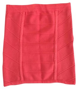 Arden B. Bandage Mini Skirt Coral