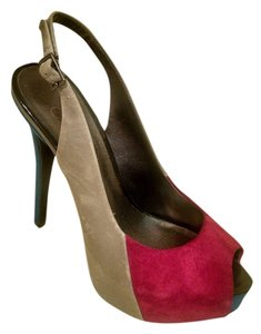 Jessica Simpson Platform Stiletto Slingback Fuchsia, gray, blue Pumps