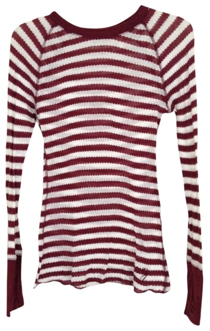 Roxy T Shirt Red and White Striped