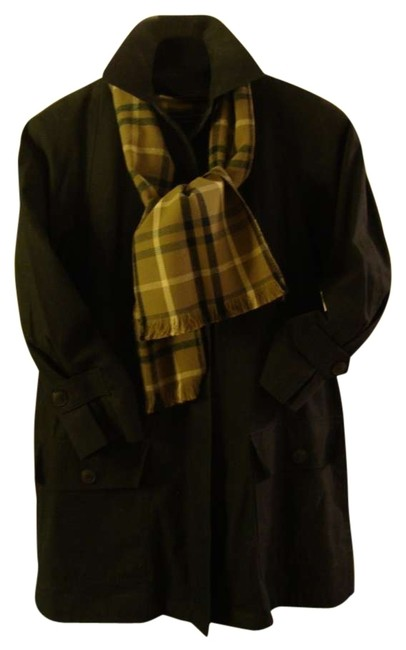 Preload https://item3.tradesy.com/images/london-fog-dark-olive-green-34-coatzip-in-wool-lining-same-plaid-wool-fabric-as-matching-scarf-pocke-132797-0-0.jpg?width=400&height=650