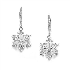 Set Of 5 Bridesmaids Crystal Snowflakes Earrings
