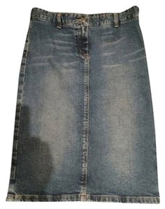 Theory Skirt Distressed Denim