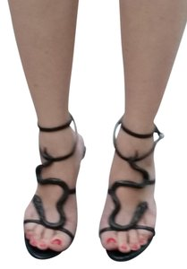 Roberto Cavalli Leather Designer black Sandals