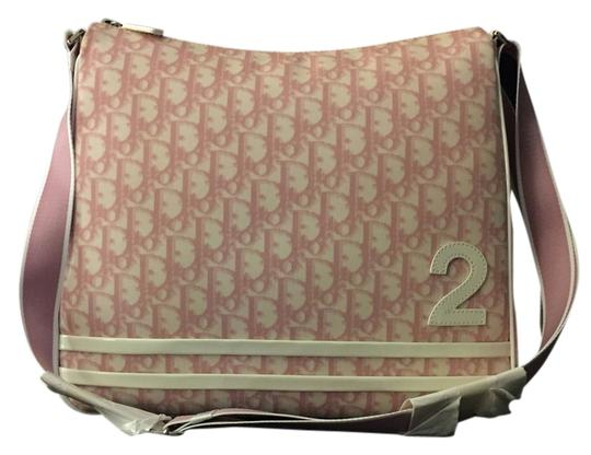 Dior Girly Sac Trotteur Pink and White Pvc Leather Messenger Bag