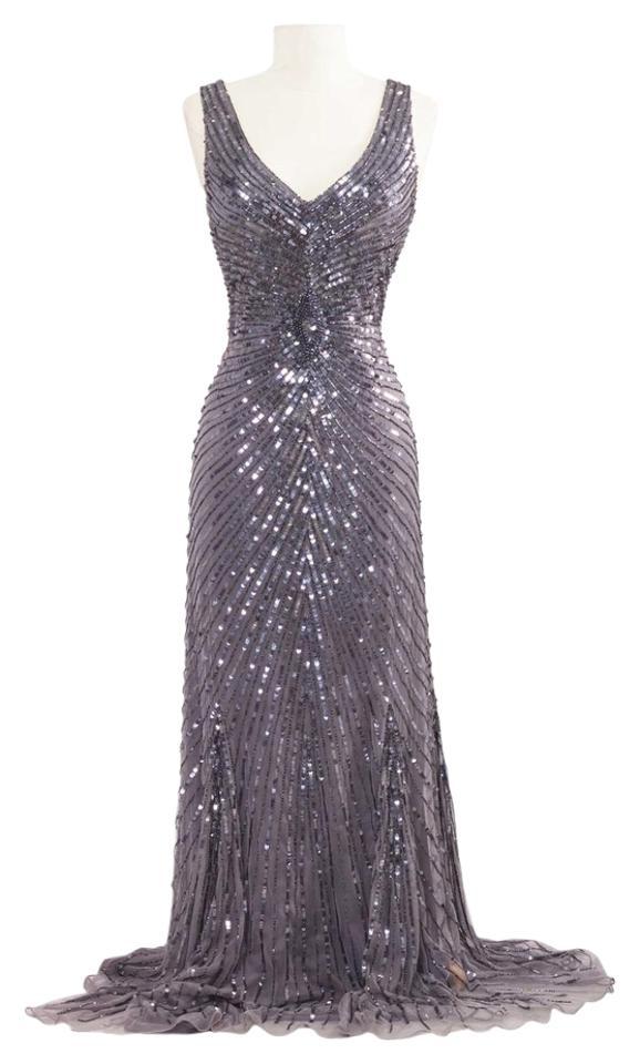 Patra New Without Tags Womens Gray Embellished Sleeveless Evening