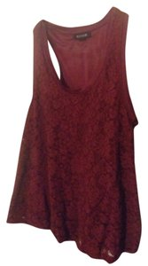 Forever 21 Lace Material Top Maroon