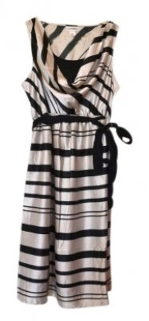 Preload https://item2.tradesy.com/images/motherhood-maternity-black-and-off-white-cowl-neck-striped-belted-maternity-cocktail-dress-size-8-m--132826-0-0.jpg?width=400&height=650