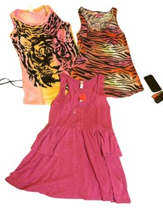 Xhilaration Animal Print Tiger Zebra Top PINKS ORANGES BLACKS