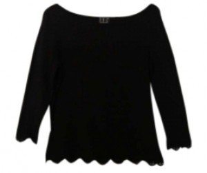 INC International Concepts Ballet Neck Lace Trim Sweater