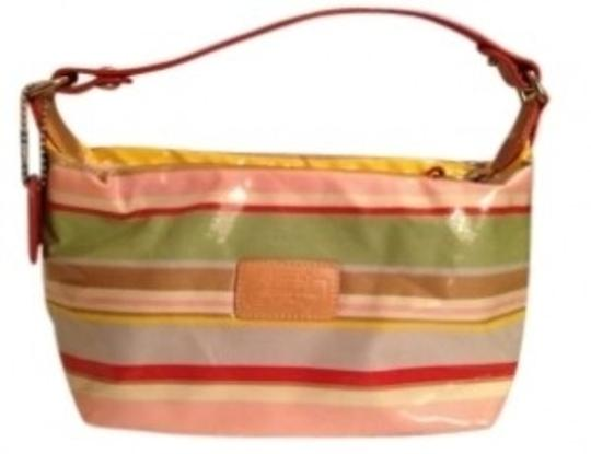 Preload https://item3.tradesy.com/images/coach-multicolored-stripe-beach-stripe-multicolored-small-purse-handbag-pink-leather-shoulder-bag-132847-0-0.jpg?width=440&height=440
