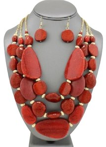 Other Turquoise Coral Necklace and Earrings
