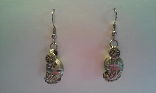 Other ANTIQUE Indonesian Sterling Silver Pierced Dangle Drop Earrings