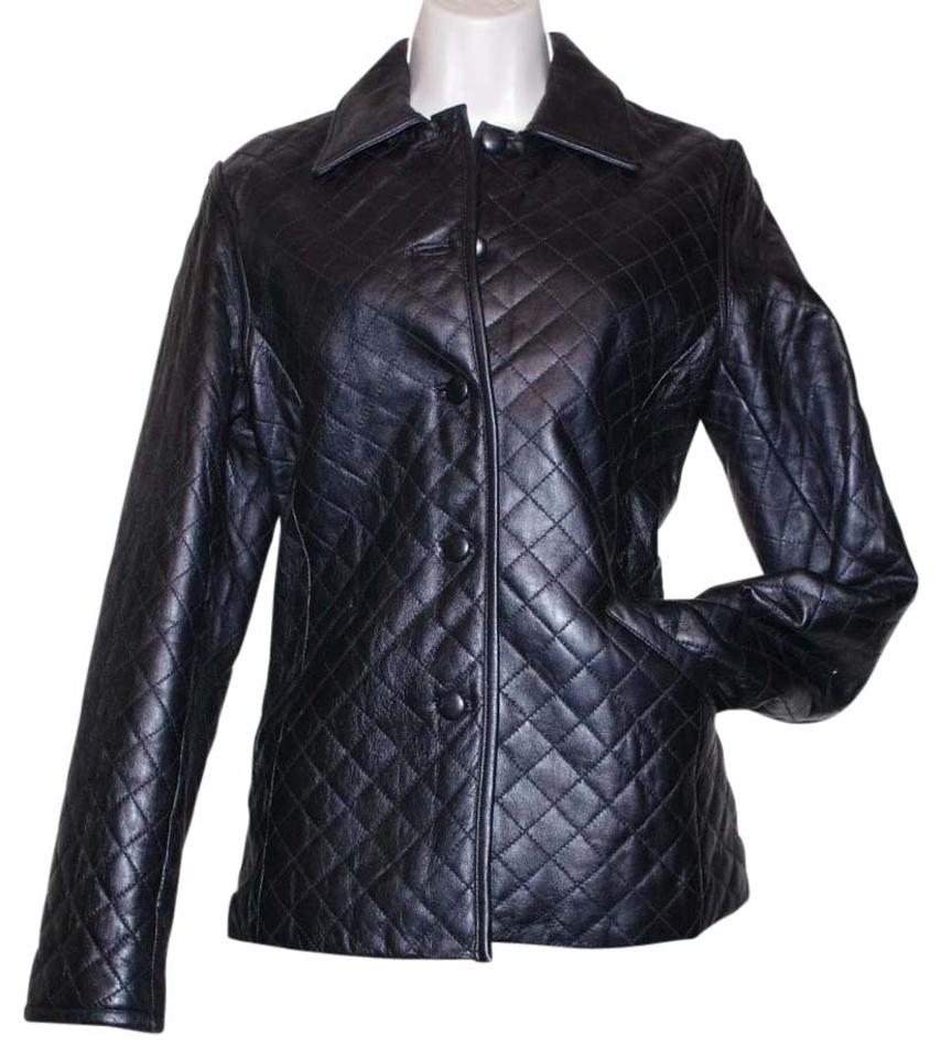 9b559560a Siena Studio Black Genuine Soft Quilted Insulated Coat Women Jacket Size 4  (S)