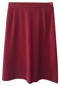 Jaeger Skirt Burgandy/Rust Colored Red