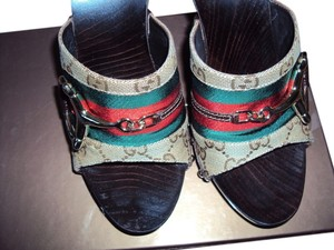 Gucci Color: BROWN / GREEN / RED / GOLD Mules