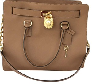 Michael Kors Tan Peanut/ Gold Diaper Bag