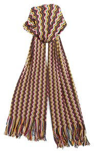 Missoni Missoni Multicolor Zigzag Knit Wool Blend Ladies Stole