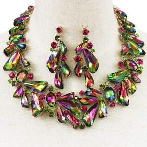 Crystal Statement Earring And Necklace Set