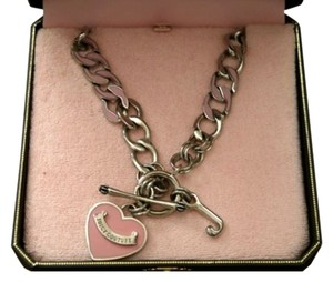 Juicy Couture Juicy Couture Necklace Heart Tag Charm Pink