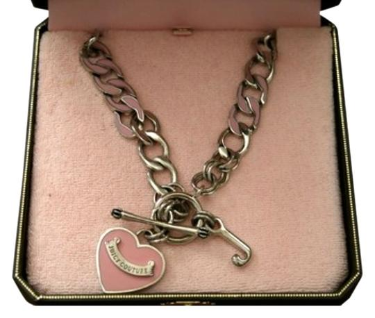 Preload https://img-static.tradesy.com/item/1328856/juicy-couture-pink-silver-black-heart-tag-charm-necklace-0-0-540-540.jpg
