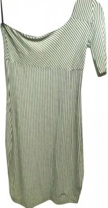 Guess short dress White with Black Stripes One And Unique on Tradesy