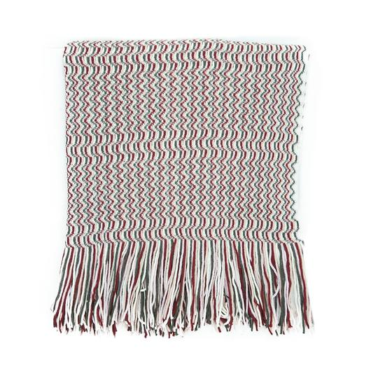 Missoni Missoni Pink/Grey Zigzag Knit Wool Blend Ladies Stole