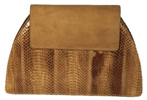 J. Renee Snakeskin Exotic Leather Suede Clutch Shoulder Bag
