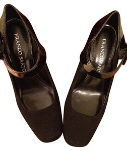 Franco Sarto Black Leather Pumps