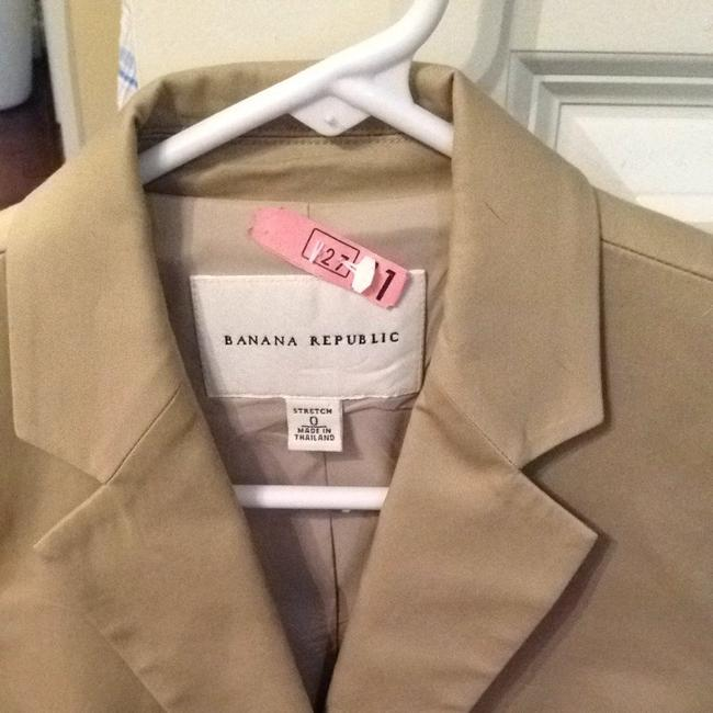 Banana Republic Tan Cotton Suit