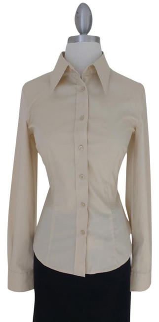Preload https://item3.tradesy.com/images/united-colors-of-benetton-champagnelight-yellowtan-stretch-shirt-button-down-top-size-4-s-13290562-0-3.jpg?width=400&height=650