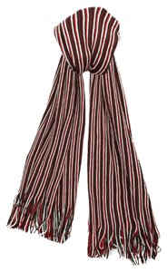 Missoni Missoni Red/Black Stripe Knit Wool Blend Ladies Scarf/Shawl