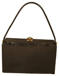 Koret Evening Purse Lizard Wristlet in Black