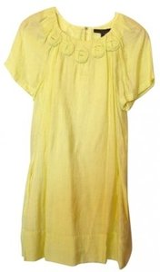 BCBGMAXAZRIA short dress Canary Yellow on Tradesy