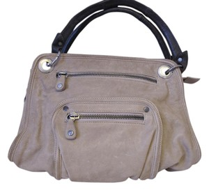 Andrea Brueckner Small Leather Pockets Grey Shoulder Bag