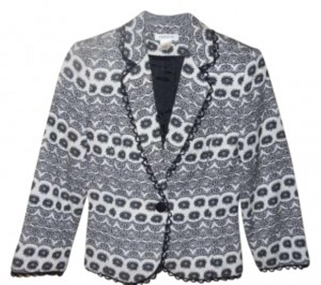Preload https://img-static.tradesy.com/item/132934/black-and-white-harold-s-34-sleeve-blazer-size-0-xs-0-0-650-650.jpg