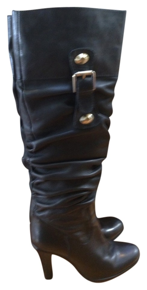 charles david black leather boots kaley size 8 73
