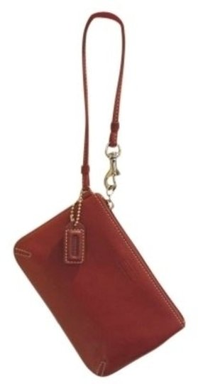 Coach Leather Never Used Wristlet in red
